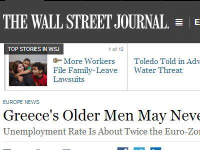 Wall Street Journal: Οι άνεργοι μεσήλικες στην Ελλάδα μπορεί να μην ξαναδουλέψουν ποτέ