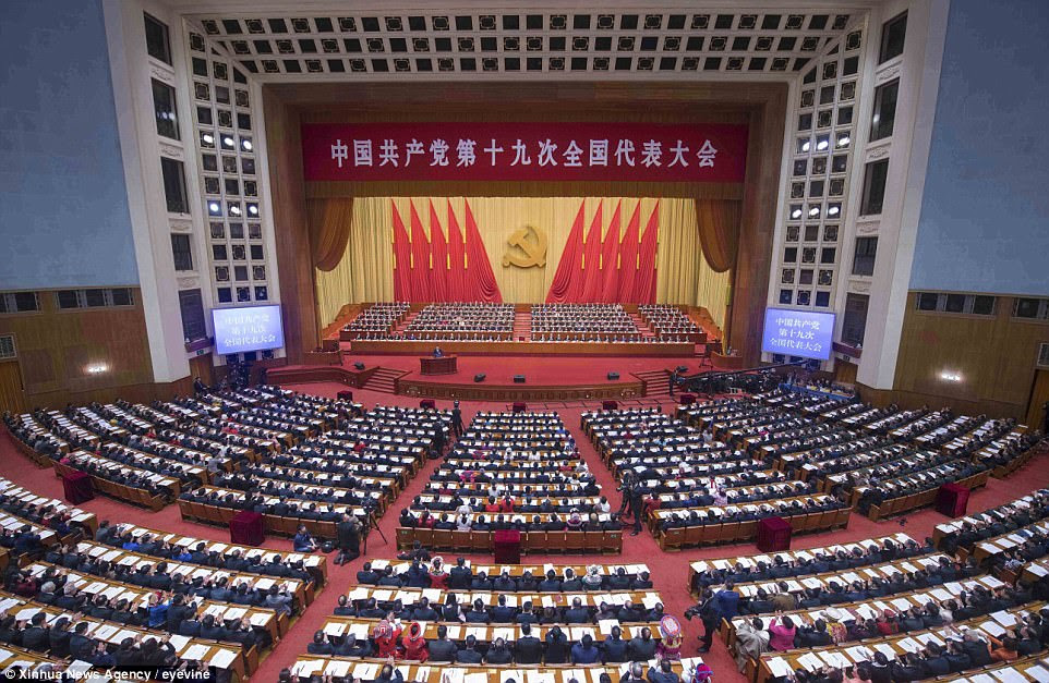 The Communist Party of China opens the 19th National Congress at the Great Hall of the People in Beijing, capital of China