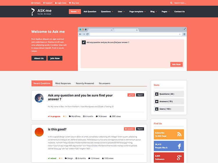 8+ Best WordPress Questions & Answers Themes and Plugins ...
