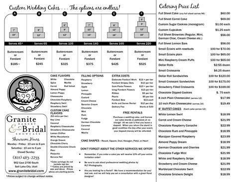 cake brochure jan 11   Cake how to   Wedding cake prices
