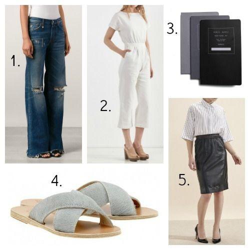 R13 Jeans - Rachel Comey Jumpsuit - Public School Notebooks - Ancient Greek Sandals - Atterley Road Skirt
