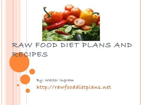 raw food diet plans  recipes