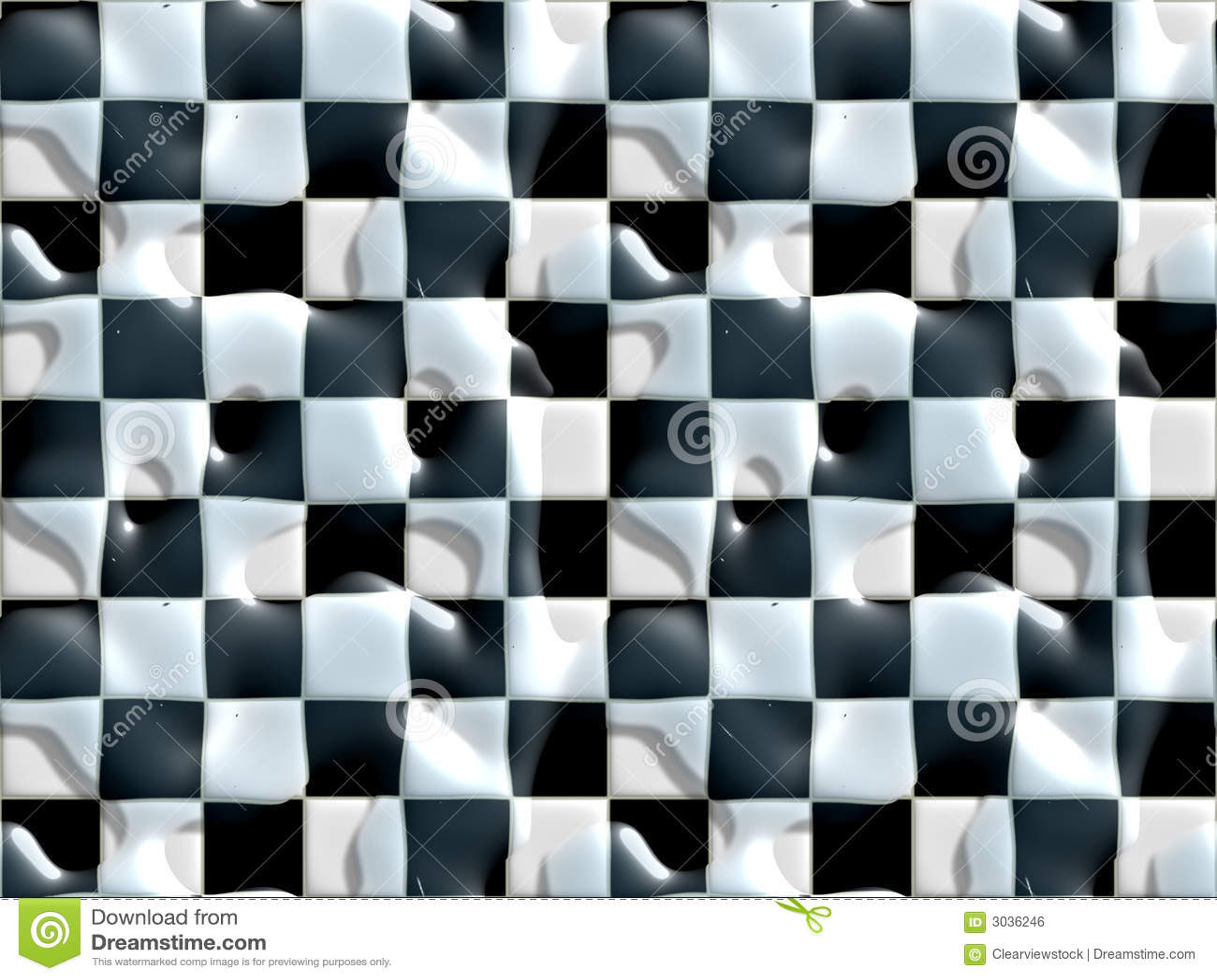 Wet Floor Black White Tiles Royalty Free Stock Image - Image: 3036246