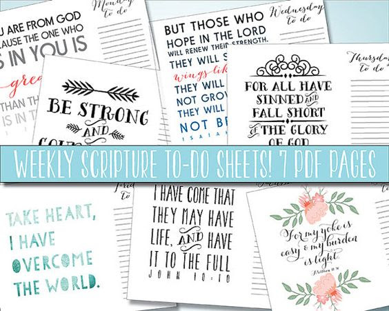 Scripture To Do List Daily, to do printable Weekly Planner ...