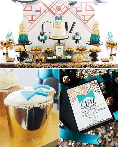 Roaring Great Gatsby Themed Christening {Teal & Rose Gold