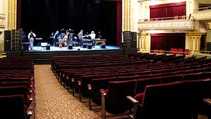 Stage and orchestra-level seats at the Bijou T...