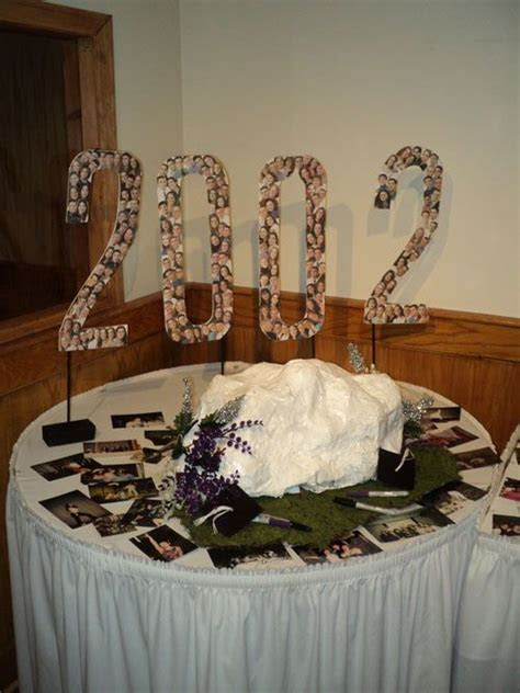 creative and inexpensive class reunion decoration. cut a