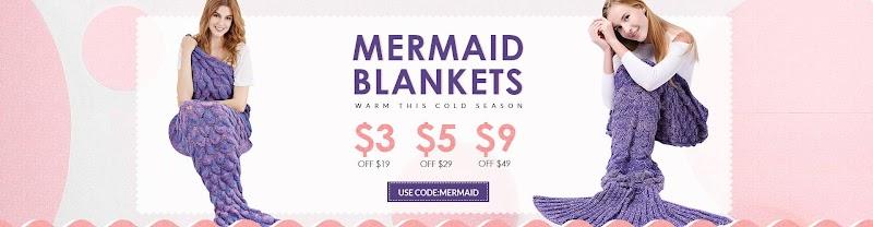 Rosegal Mermaid Battaniyeler &Deniz Kızı Battaniyeler