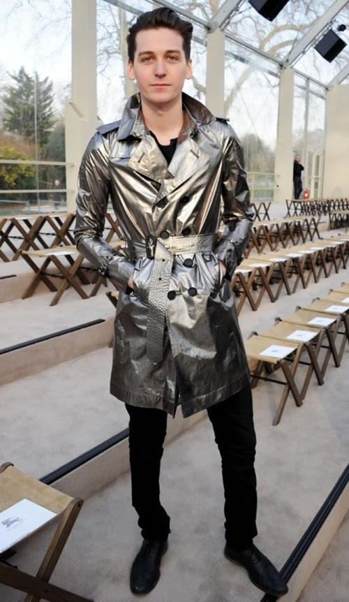 6 George Craig wearing Burberry at the Burberry Prorsum Womenswear Autumn Winter 2013 Show