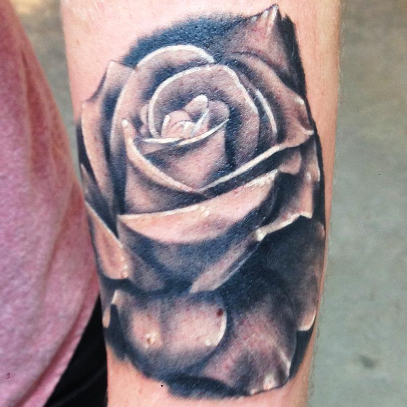 Rose Tattoo Black And Gray Flower By Kyle Grover Tattoonow