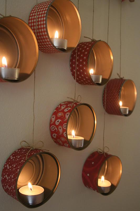 Fazer suportes de velas reciclados