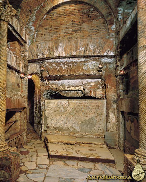 Cripta de los Papas en la catacumba de San Calixto