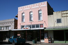 pink bldg. in bastrop