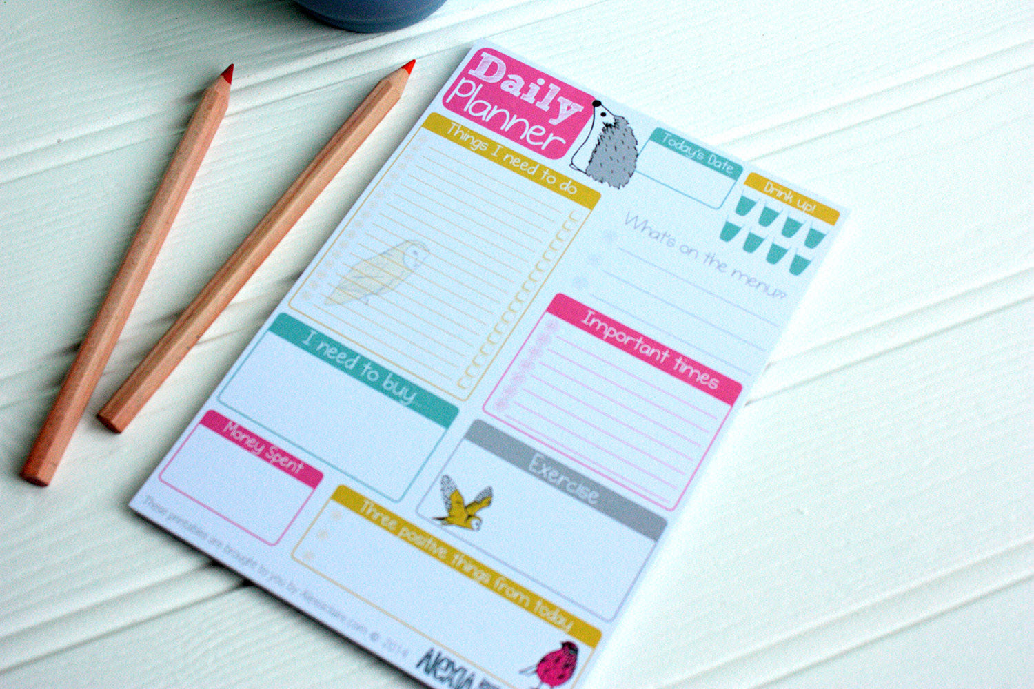 Daily Planner Notepad – Alexia Claire
