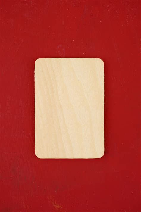 36 Small Wood Rectangle Cutouts 3 x 2