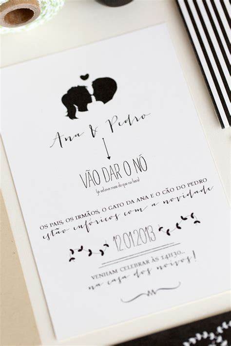 Ana   Pedro's Modern Organic Wedding Invitations