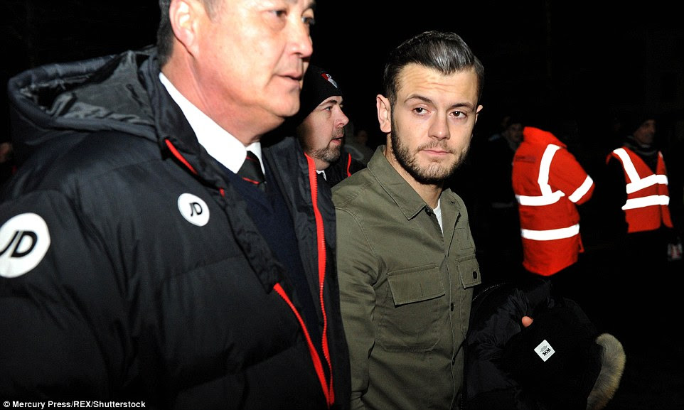 Bournemouth loan star Jack Wilshere was at the Vitality Stadium but was ineligible to play against his parent club Arsenal
