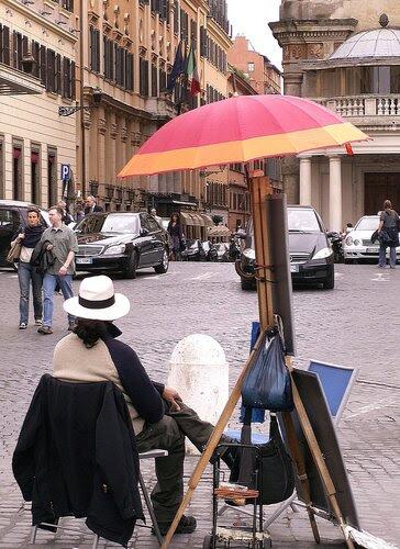 художники на улицах Рима