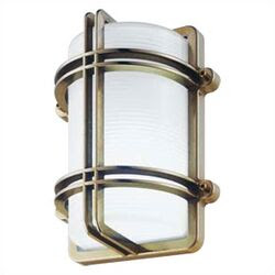 LBL Lighting Large Round Aluminum Bulkhead Wall or Ceiling Mounted ...