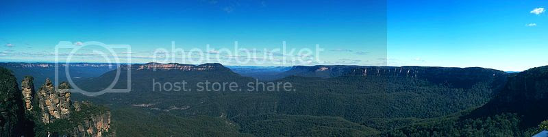 Panorama of the Blue Mountains