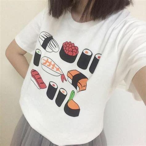 shirt sushi kawaii hipster aesthetic aesthetic tumblr