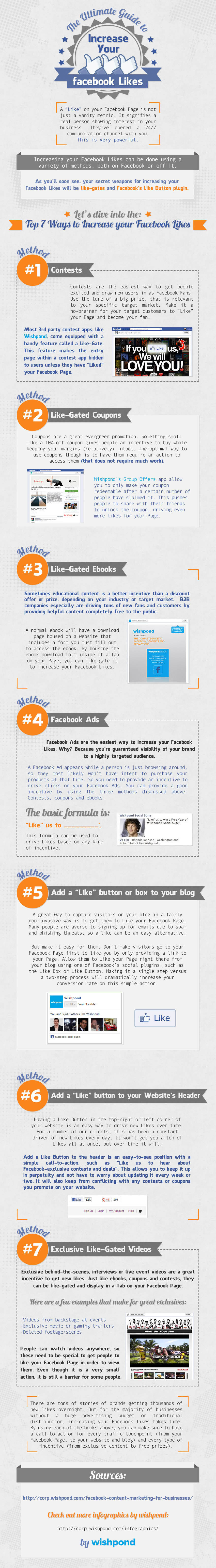 7 super easy ways to increase your Facebook likes - infographic