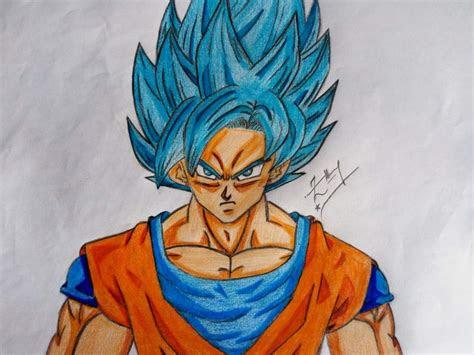drawing goku super saiyan blue anime city amino