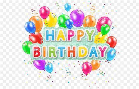 Balloon Birthday Clip art   Happy Birthday Deco Text with