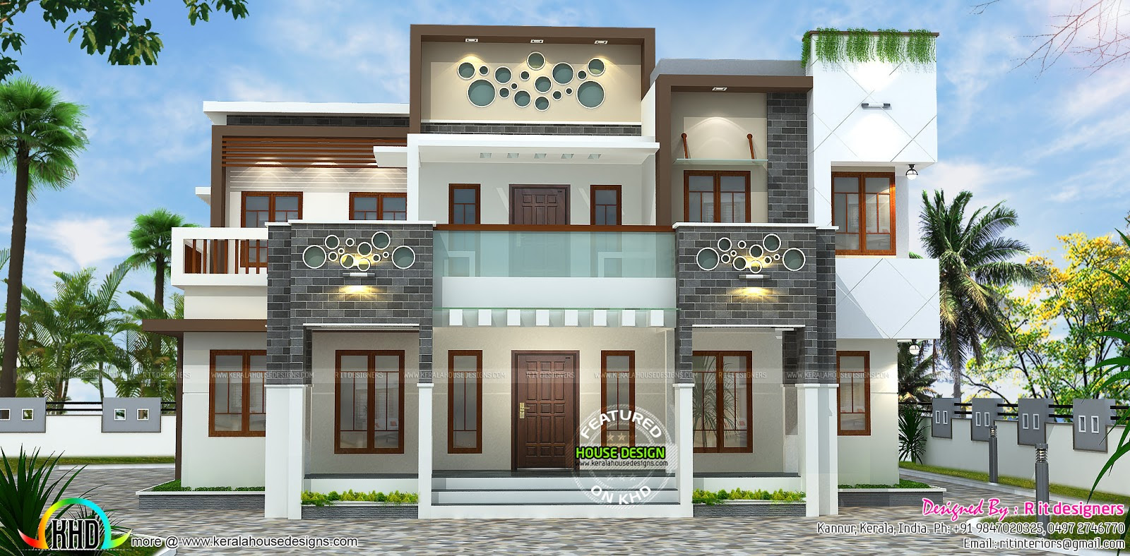 Parapet Wall Elevation Designs In India - Decoration Ideas