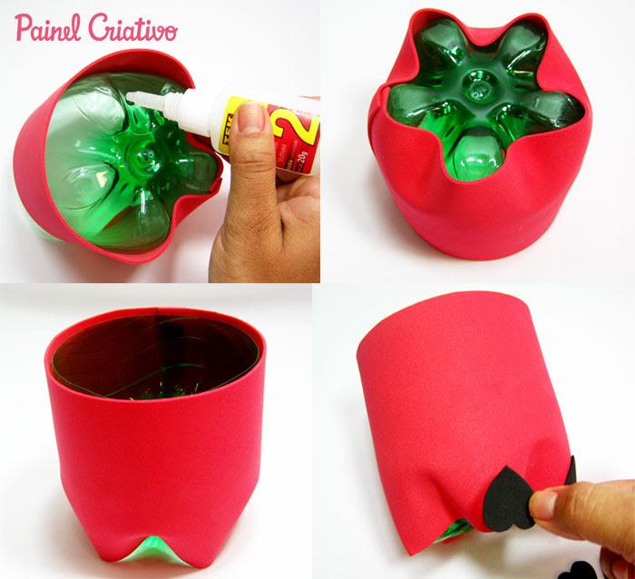 como fazer lembrancinha porta guloseima papai noel garrafa pet natal reciclagem (2)
