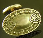 Late Victorian neoclassical cufflinks. (J9424)