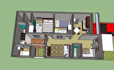 gambar rumah minimalis ukuran 6x15
