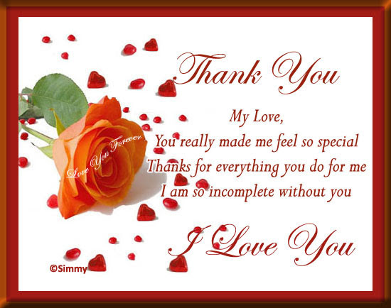 Thank You My Love Free For Your Love Ecards Greeting Cards 123