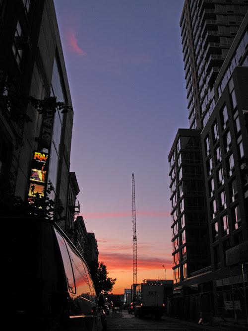 sunset on 37th Street, Manhattan, NYC