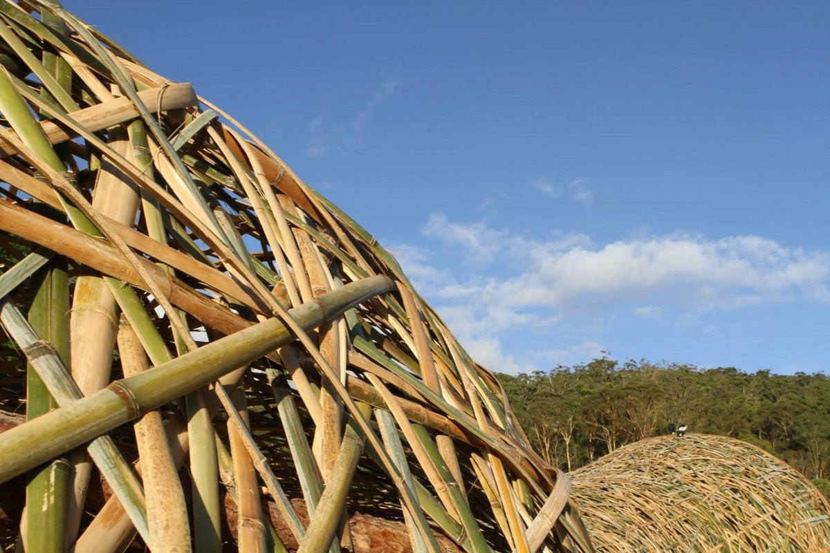 Woven Sky: A Bamboo Tunnel Installation Woven Together Like a Basket by Wang Wen Chih bamboo Australia architecture