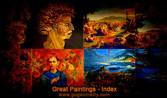 Great Paintings  and Golden Rectangles.