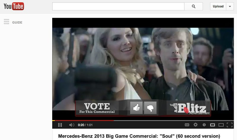 "On YouTube: Mercedes-Benz 2013 Big Game Commercial: ""Soul"" (60 second version) - YouTube"
