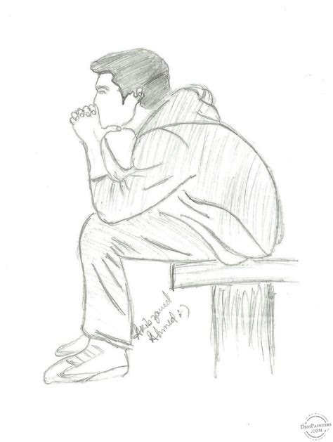 pencil drawings  lonely boy google search pencil