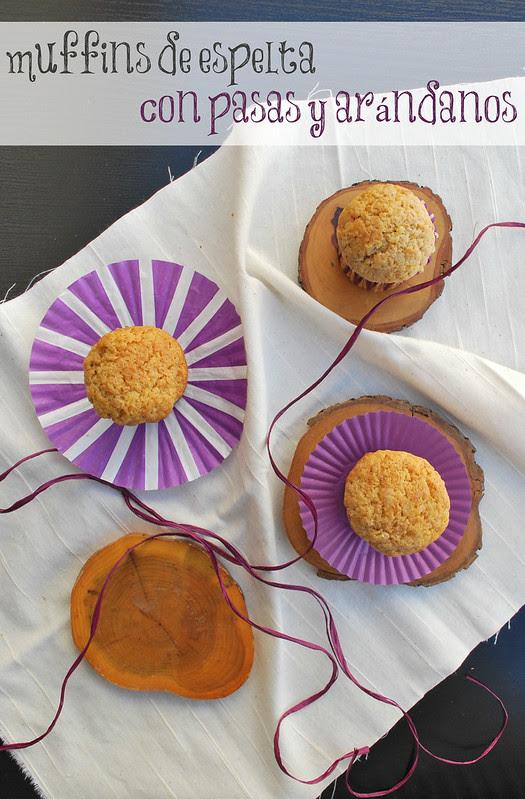 muffins espelta pasas arándanos rojos 03text