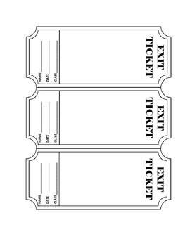 Exit Ticket Template - Editable by Kesler Science | Teachers Pay ...
