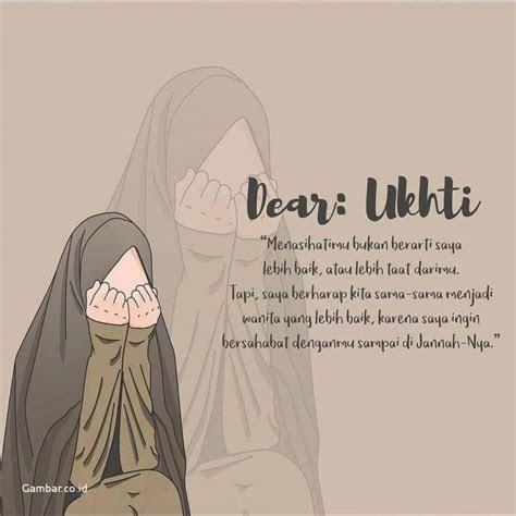 kata kata muslimah tentang ukhti kartun muslimah