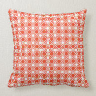 Tangerine Polka Dot Pattern Pillow
