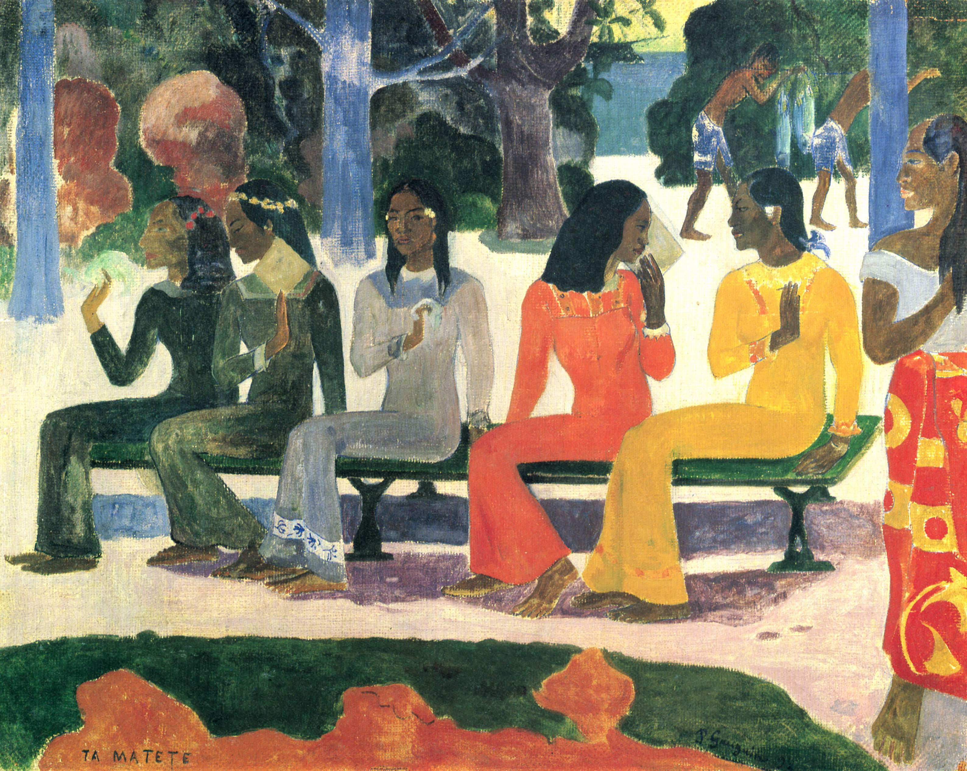 Te Matete By Paul Gauguin