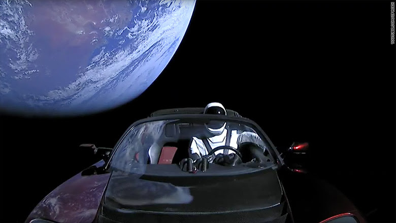 Image result for musks tesla in space