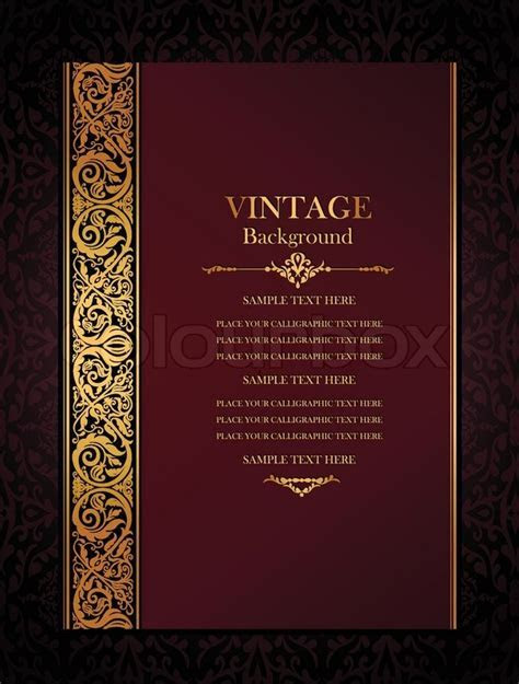 Vintage background, antique, victorian     Stock Vector