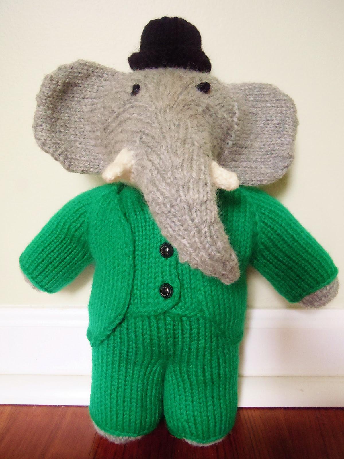 Free Babar the Elephant Knitting Pattern