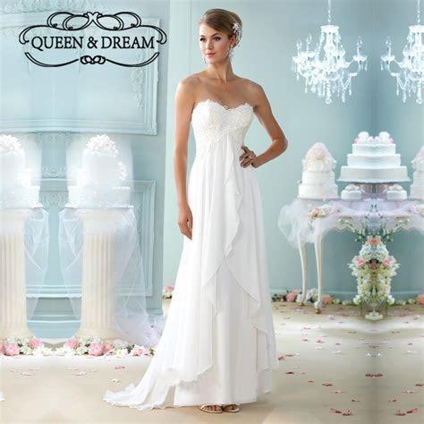 Summer Style Beach Wedding Dress White Chiffon Lace