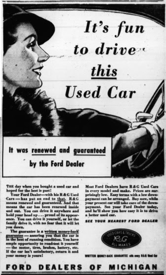 Ford used car ad