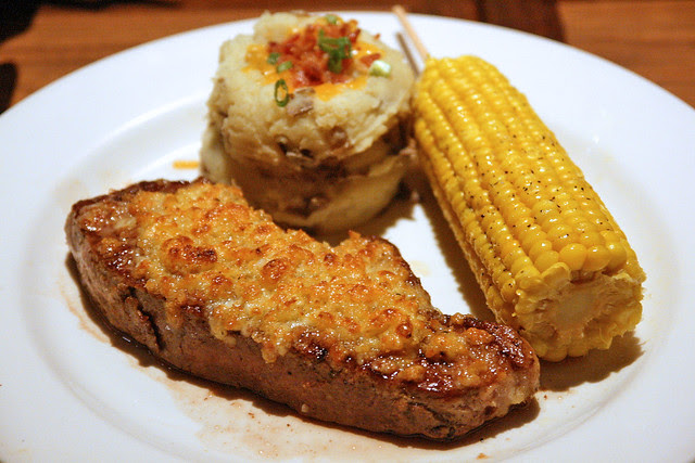 Parmesan Crusted Steak