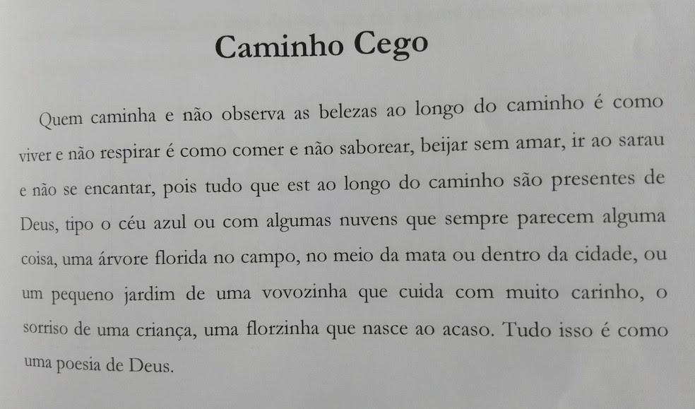 Fábio aborda diversas temáticas em seus poemas (Foto: Reprodução/'A Vida em Poesias')